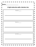 Double Digit Subtraction with Number Line