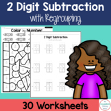 Double Digit Subtraction with Regrouping Worksheets