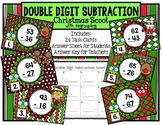 Double Digit Subtraction with Regrouping Christmas Scoot