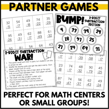 A Dose of Double Digit Subtraction - An Activity Pack