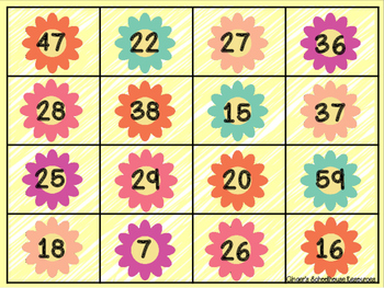 Double Digit Subtraction with Regrouping Springtime Connect Four Game