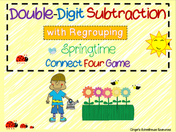 Double Digit Subtraction with Regrouping Springtime Connec