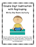 Double Digit Subtraction with Regrouping Write the Room Activity (3 Sets)