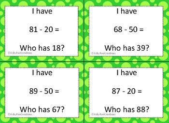 Double Digit Subtraction with multiples of 10