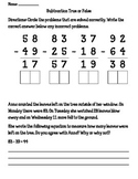 Double Digit Subtraction (with regrouping) True or False