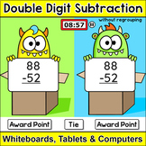Double Digit Subtraction without Regrouping Team Challenge Digital Game