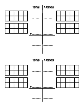Double-Digit (Tens Place) Addition Worksheet for Special E