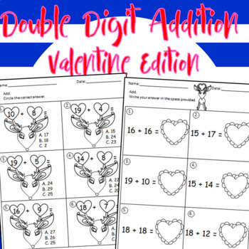 Double Digit Valentine's Addition