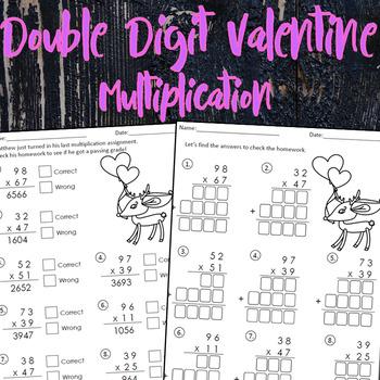 Double Digit Valentine's Multiplication
