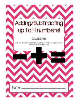 Double Digit addition up to 4 numbers practice!