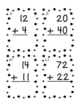 Double Digit addition without regrouping