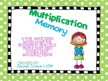 Double Digit and Triple Digit Multiplication Match
