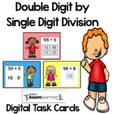 Double Digit by Single Digit Division Digital BOOM Task Cards