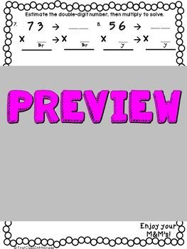 Double-Digit by Single-Digit Multiplication M&M's