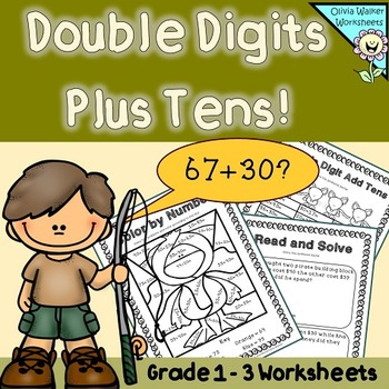 Double Digits Plus Tens - Worksheets