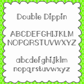 Double Dippin' Font {personal and commercial use; no license needed}