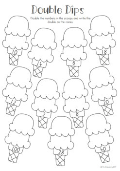 Doubles Worksheets - Ice Creams