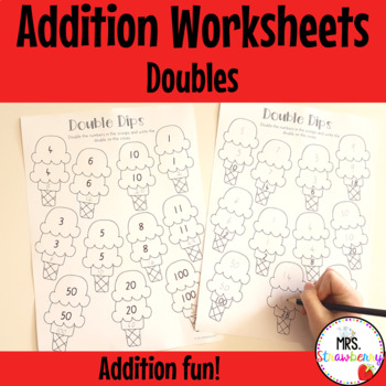 Double Dips {Doubles Worksheets}