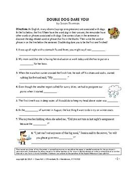 Idioms Worksheets: Idioms Related to Dogs (3 P., Answer Key, Gr. 6+, $2)