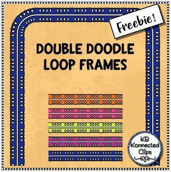 Double Doodle Loops Frames - Freebie!