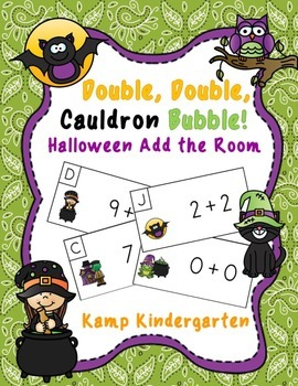 Double, Double, Cauldron Bubble!  Halloween Add the Room  (Sums to 20)