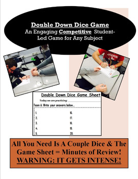 Double Down Dice Game - Engaging & Competitive Activity for Any Subject