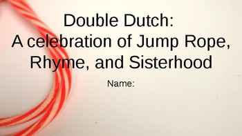 Double Dutch:  A Celebration of Jump Rope, Rhyme, and Sisterhood Vocab ? Slides