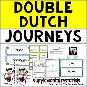 Double Dutch Journeys Fifth Grade Unit 1 Lesson 4 Activities and Printables