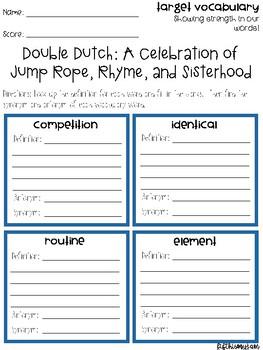 Double Dutch Vocabulary Grids