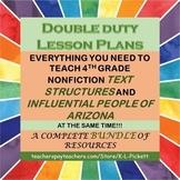 Double Duty Lesson Plans Bundle - Text Structures & Influe