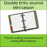 Double Entry Journal Mini Lesson