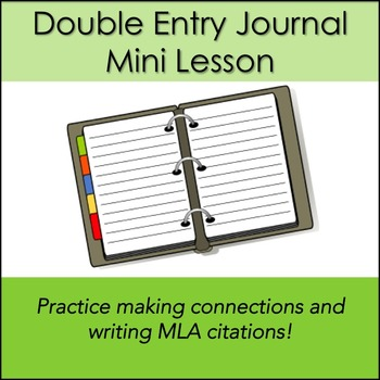 Double Entry Journal Mini Lesson