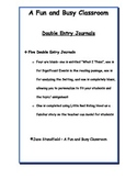 Double Entry Journals Graphic Organizers Pack
