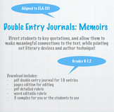 Double Entry Journals: Memoirs