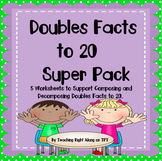 Doubles Fact Worksheets - Digital Classroom or Printable Pages