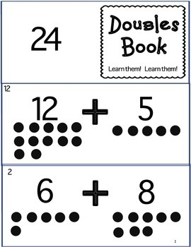 Double Fact and Doubles Plus One Mini Books to print and practice