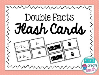 Double Facts Flash Cards