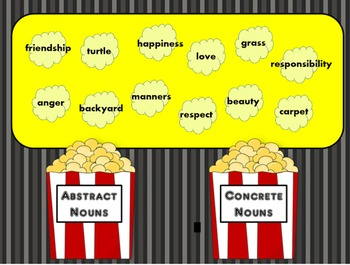 Abstract & Concrete Nouns - A Language Smarboard Game