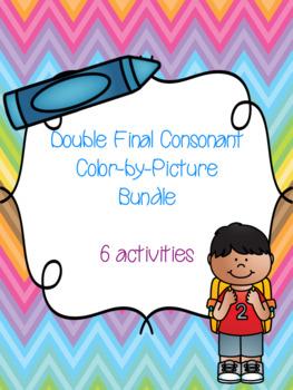 Double Final Consonant Color-by-Picture Bundle! {6 activities}