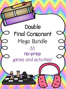 Double Final Consonant Mega Bundle! [33 no-prep games and activities]