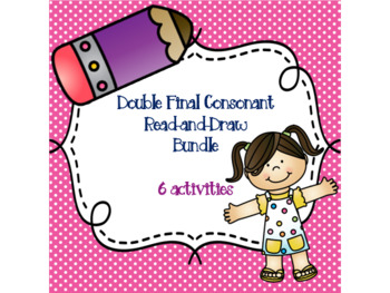 Double Final Consonant Read-and-Draw Bundle {6 activities}
