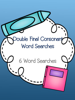 Double Final Consonant Word Search Bundle! {6 word searches}