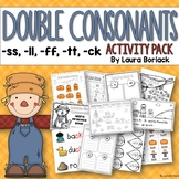 Double Final Consonants ss, ll, ff, tt ,ck  Activity Pack