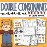 Double Final Consonants ss, ll, ff, tt ,ck  Activity Pack