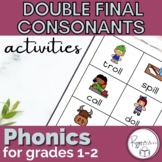 Double Final Consonants Phonics Activites