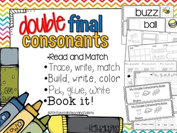 Double Final Consonants  ff, ss, ll, zz,  5 Interactive Activities