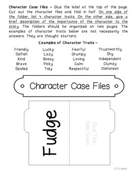 Double Fudge Interactive Notebook Novel Unit Study Activities, Book Report
