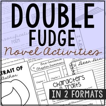 Double Fudge Novel Unit Study Activities, Book Companion Worksheets, Project