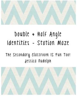 Double & Half Angle Identities Station Maze