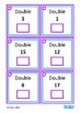 Double & Half Mental Arithmetic Math Task Cards, Autism, Special Education
